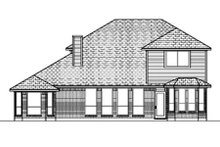 Home Plan - Traditional Exterior - Rear Elevation Plan #84-382