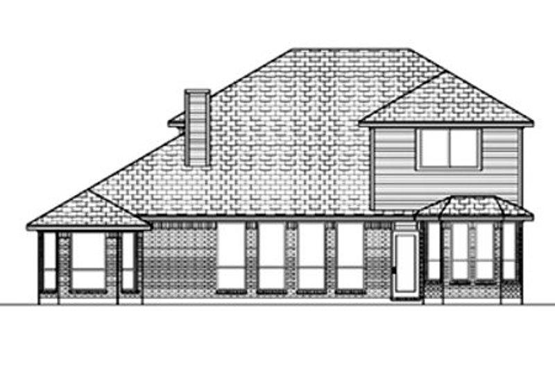 Traditional Exterior - Rear Elevation Plan #84-382 - Houseplans.com