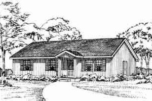 Ranch Exterior - Front Elevation Plan #72-336