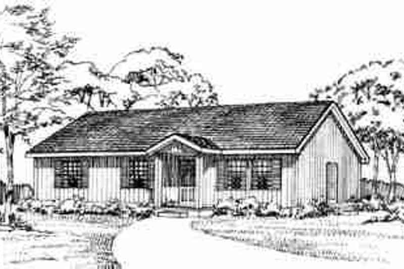 Architectural House Design - Ranch Exterior - Front Elevation Plan #72-336