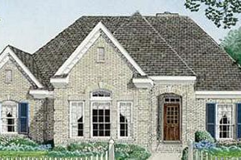 European Exterior - Front Elevation Plan #410-349