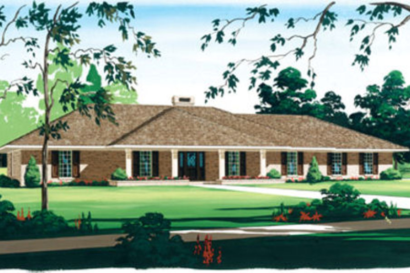 Ranch Exterior - Front Elevation Plan #45-153