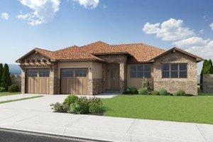 Dream House Plan - Mediterranean Exterior - Front Elevation Plan #126-211