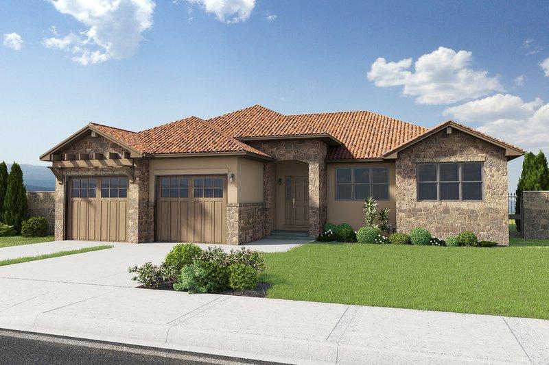 House Plan Design - Mediterranean Exterior - Front Elevation Plan #126-211