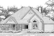 Country Style House Plan - 3 Beds 2 Baths 2184 Sq/Ft Plan #120-128 Exterior - Front Elevation