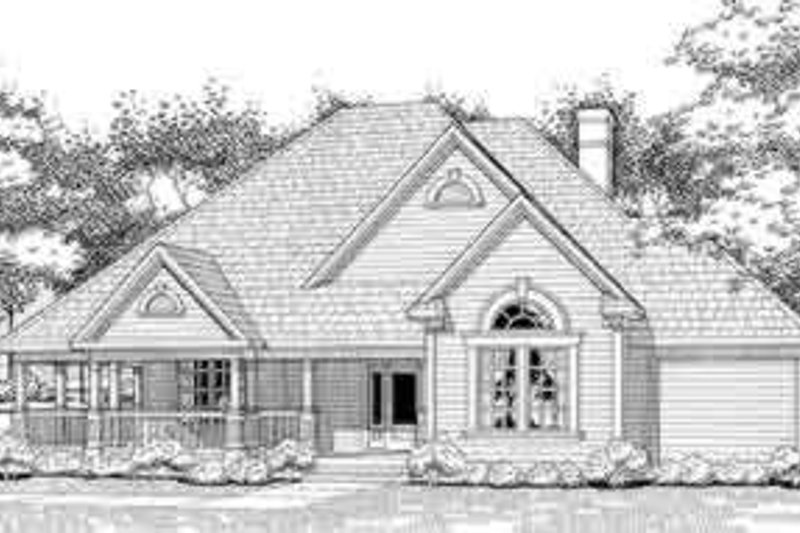 Country Exterior - Front Elevation Plan #120-128 - Houseplans.com