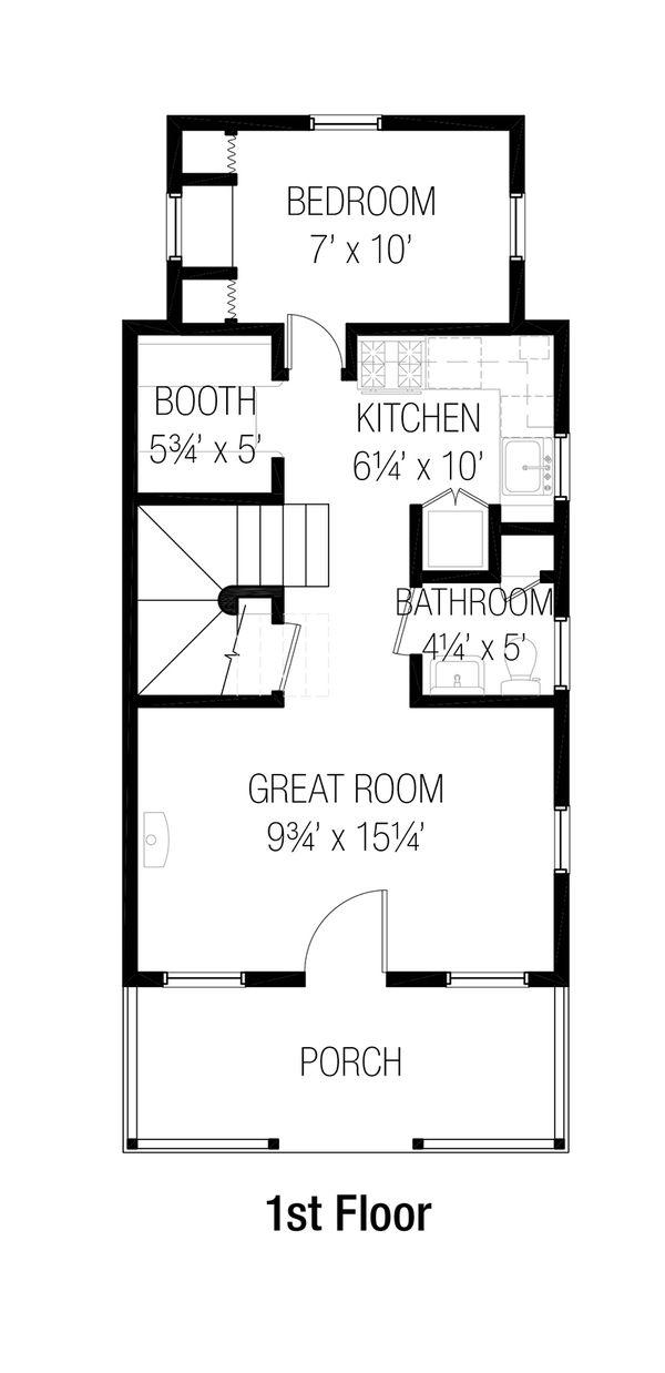 Cottage Floor Plan - Main Floor Plan #915-2