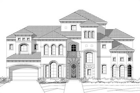 Mediterranean Exterior - Front Elevation Plan #411-194