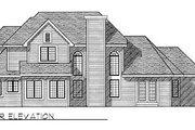 European Style House Plan - 3 Beds 2.5 Baths 2575 Sq/Ft Plan #70-412 Exterior - Rear Elevation