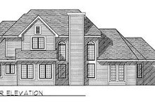 House Design - European Exterior - Rear Elevation Plan #70-412
