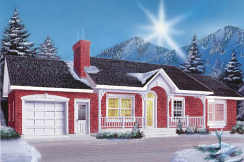 Ranch Exterior - Front Elevation Plan #23-1001 - Houseplans.com