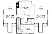 Country Style House Plan - 3 Beds 2.5 Baths 1968 Sq/Ft Plan #929-48 Floor Plan - Upper Floor