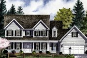 Colonial Style House Plan - 4 Beds 2.5 Baths 2617 Sq/Ft Plan #316-124 Exterior - Front Elevation