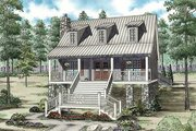 Cottage Style House Plan - 3 Beds 2 Baths 1544 Sq/Ft Plan #17-2354 Exterior - Front Elevation