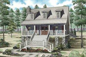 Cottage Exterior - Front Elevation Plan #17-2354