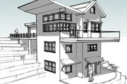 Modern Style House Plan - 4 Beds 4 Baths 2681 Sq/Ft Plan #902-4 Exterior - Other Elevation
