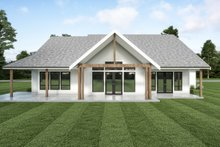 Dream House Plan - Farmhouse Exterior - Rear Elevation Plan #1070-118