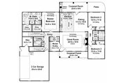 European Style House Plan - 3 Beds 2.5 Baths 2021 Sq/Ft Plan #21-242