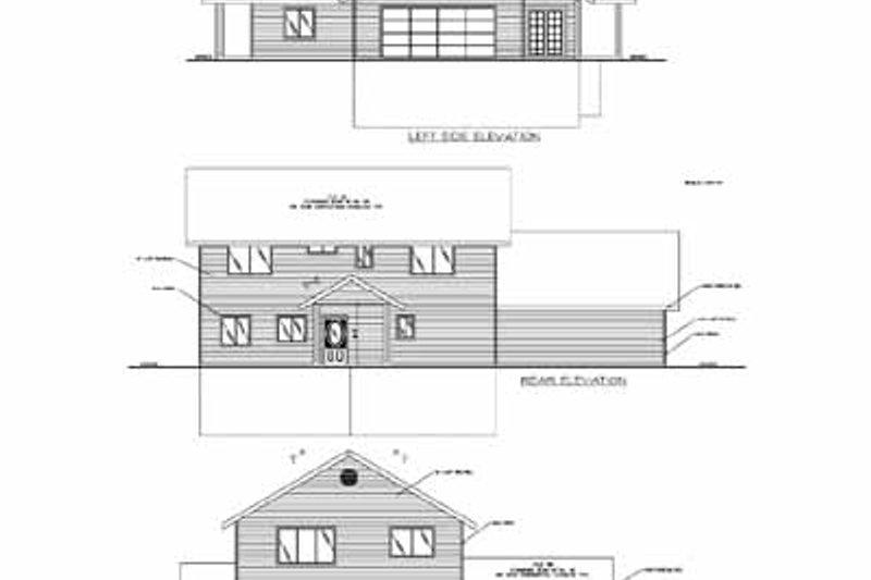 Traditional Exterior - Rear Elevation Plan #117-162 - Houseplans.com