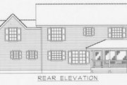 Traditional Style House Plan - 3 Beds 2.5 Baths 1840 Sq/Ft Plan #112-121 Exterior - Rear Elevation