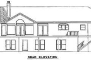 Colonial Style House Plan - 4 Beds 3 Baths 3246 Sq/Ft Plan #17-2097 Exterior - Rear Elevation