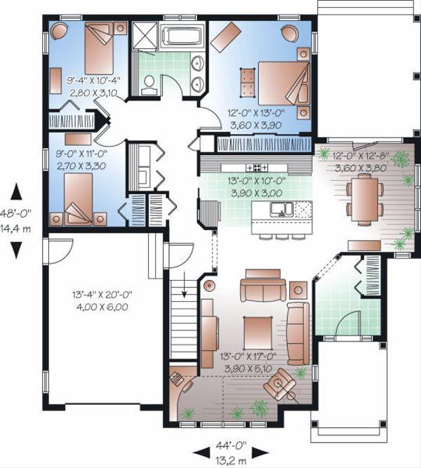 Traditional Floor Plan - Main Floor Plan Plan #23-790