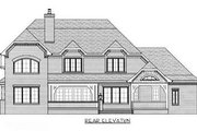 European Style House Plan - 4 Beds 3 Baths 4065 Sq/Ft Plan #413-110 Exterior - Rear Elevation