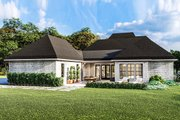 Country Style House Plan - 4 Beds 2.5 Baths 2298 Sq/Ft Plan #406-9658 Exterior - Rear Elevation