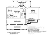 Cottage Style House Plan - 3 Beds 2 Baths 1565 Sq/Ft Plan #45-582 Floor Plan - Other Floor