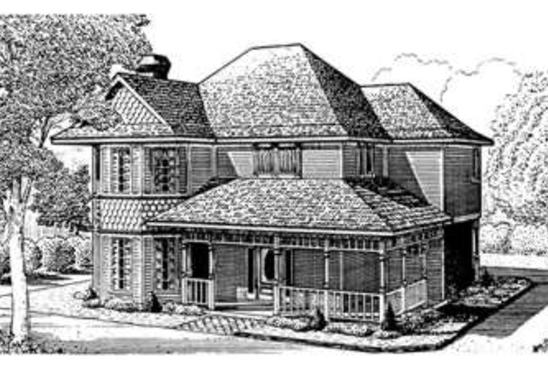 Victorian Exterior - Front Elevation Plan #410-288