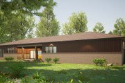 Contemporary Style House Plan - 3 Beds 3.5 Baths 2438 Sq/Ft Plan #923-201