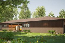 Architectural House Design - Contemporary Exterior - Rear Elevation Plan #923-201
