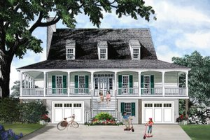 Southern style home, Country design, elevation