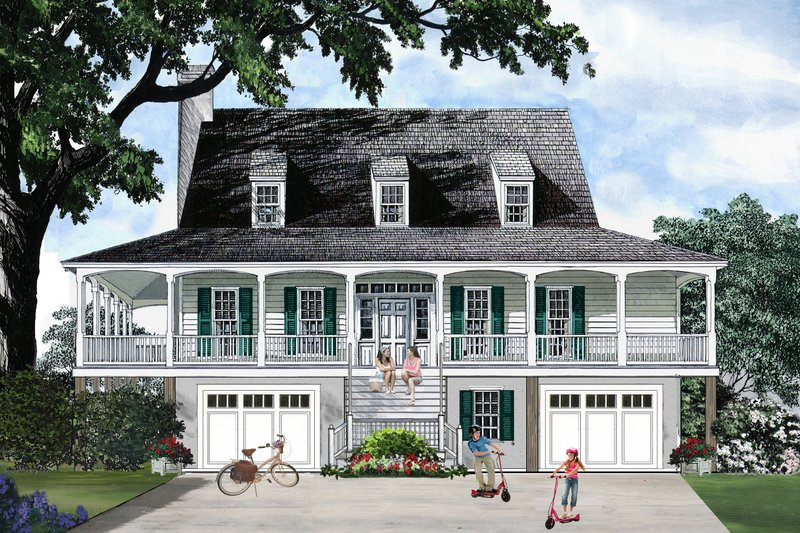 Home Plan - Southern style home, Country design, elevation