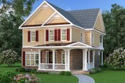 Traditional Style House Plan - 3 Beds 2.5 Baths 2698 Sq/Ft Plan #419-273 Exterior - Front Elevation
