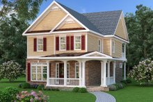 Dream House Plan - Traditional Exterior - Front Elevation Plan #419-273