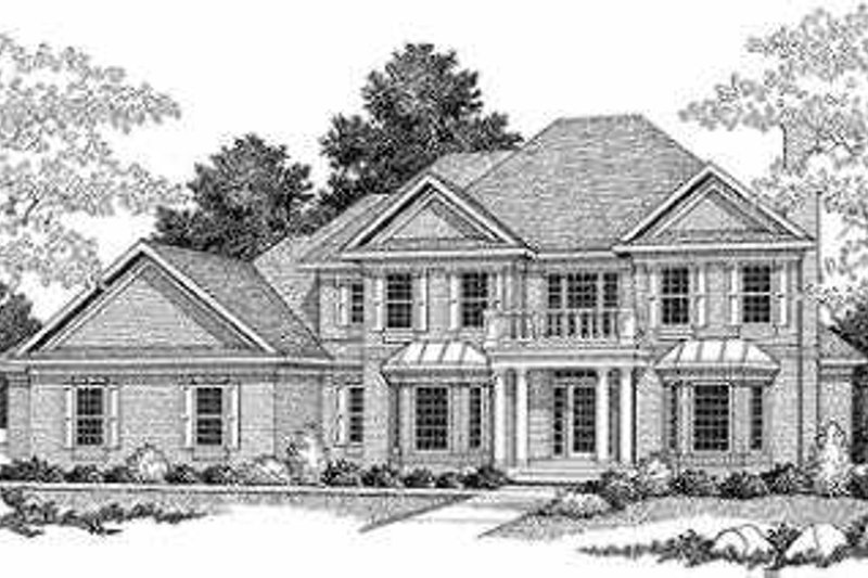 House Plan Design - Traditional Exterior - Front Elevation Plan #70-541