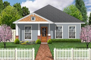 Dream House Plan - Craftsman Exterior - Front Elevation Plan #84-447