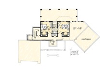 Country Floor Plan - Lower Floor Plan Plan #942-24