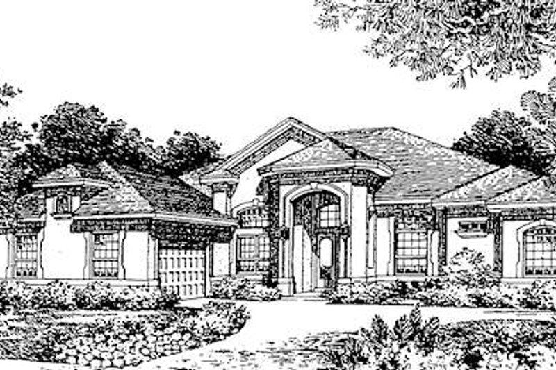 European Style House Plan - 4 Beds 4 Baths 3162 Sq/Ft Plan #135-154