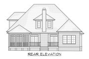 Traditional Style House Plan - 4 Beds 4.5 Baths 2862 Sq/Ft Plan #1054-40 Exterior - Rear Elevation