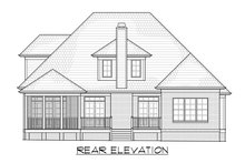 Home Plan - Traditional Exterior - Rear Elevation Plan #1054-40