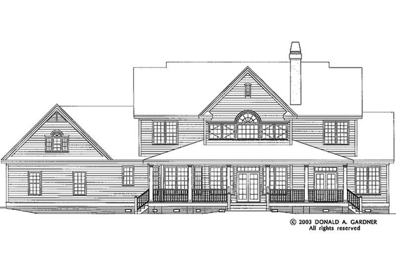 Country Exterior - Rear Elevation Plan #929-44 - Houseplans.com