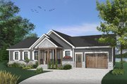 Ranch Style House Plan - 2 Beds 1 Baths 1443 Sq/Ft Plan #23-2652 Exterior - Front Elevation