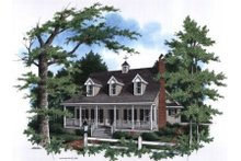Farmhouse Exterior - Front Elevation Plan #41-133