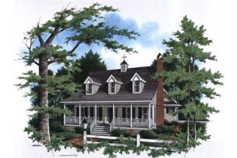 Farmhouse Style House Plan - 3 Beds 2.5 Baths 1815 Sq/Ft Plan #41-133 Exterior - Front Elevation
