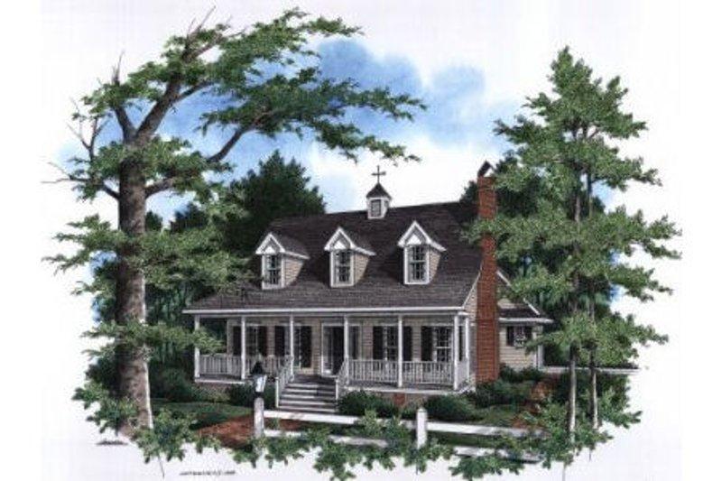 Architectural House Design - Farmhouse Exterior - Front Elevation Plan #41-133