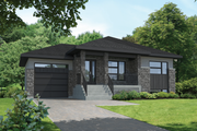 Contemporary Style House Plan - 2 Beds 1 Baths 927 Sq/Ft Plan #25-4590 Exterior - Front Elevation