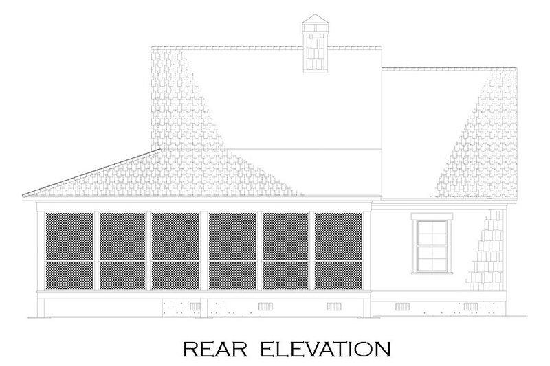 Country Exterior - Rear Elevation Plan #17-2534 - Houseplans.com