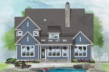 House Plan Design - Craftsman Exterior - Rear Elevation Plan #929-1082